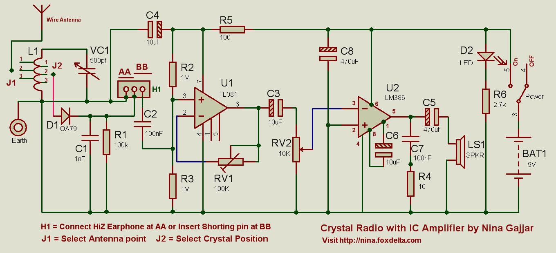 Crystal Radio Kit Schematic Best Secret Wiring Diagram Simple 9v Fm Transmitter Circuit By Nina Gajjar Rh Foxdelta Net