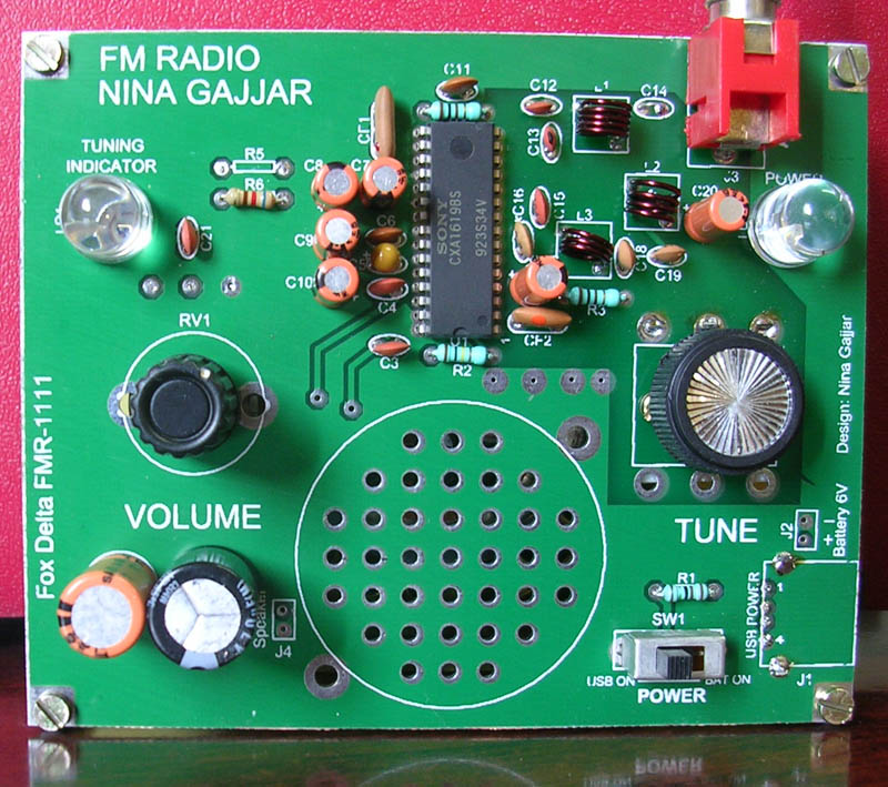 fm radio kit sony cxa1619bs by nina gajjar