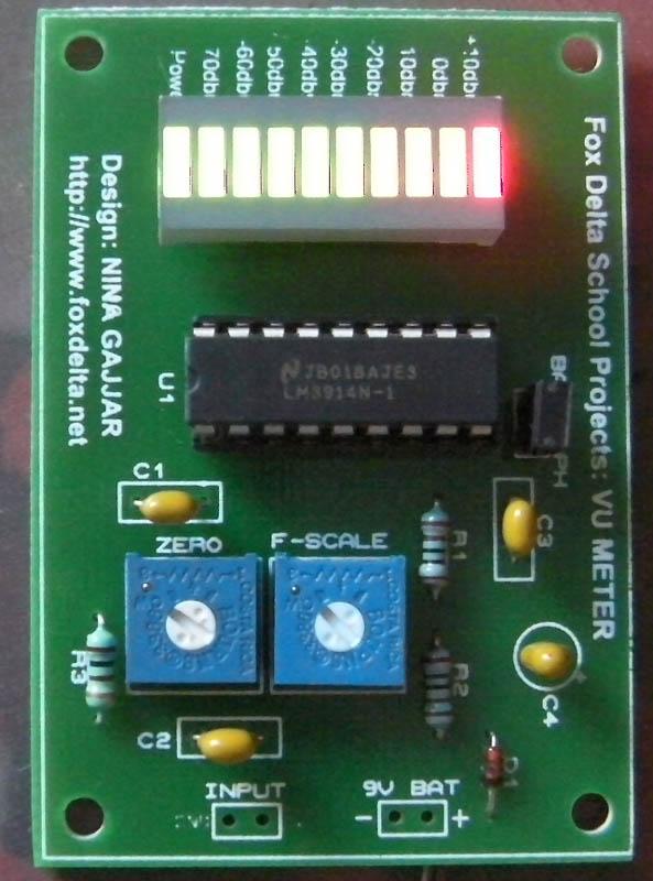 Fantastic Fox Delta School Projects A Simple Vu Meter Using Lm3914 Wiring Digital Resources Apanbouhousnl